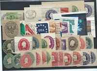 FRANCOBOLLI 1893/1934 USA STATI UNITI 10 INTERI POSTALI VIAGGIATI D/6055