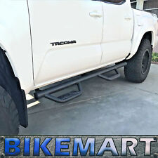 08-19 Fit Toyota Tacoma Double Cab Hoop Blk Side Steps Running Boards Nerf Bars