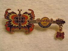 Hard Rock Cafe Puerto Vallarta Butterfly Guitar '07 Pin - LE 300 Pins - Orange