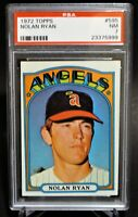 1972 Topps #595 Nolan Ryan Card - HOF - Angels - PSA 7 - NM - 23375999  - (SCA)