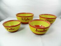 Vintage Nesting Mixing Bowl Set 4 Primary Colors Red Yellow Snack Bowl Snacks