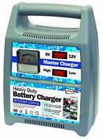 6/12v 12 Amp Heavy Duty Car Van Boat Bike Automatic Battery Master Charger #12