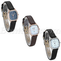 Women's Casual Simple Style Slim Leather Strap Square Dial Quartz Wrist Watch