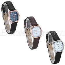 Women's Casual Simple Style Slim Leather Strap Square Dial Quartz Wrist Watch