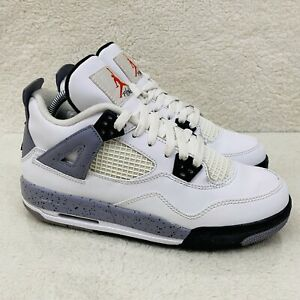 Nike Air Jordan Retro 4 IV GS White Cement 2012 408452-103 Size 6Y Youth