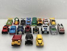 Hot Wheels, Matchbox Lot of 19 Loose Diecast & Plastic Cars Trucks