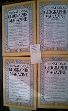 National geographic magazine lot of 4  1955 and 1961
