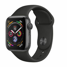 Apple Watch Series 4 40 mm Space Grey Aluminum Case with Black Sport Band (GPS) - (MU662X/A)