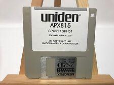 Uniden APX815 SPU51 SPH51 Software floppy disk Version 2.05
