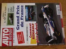 $$$ Revue Auto Hebdo N°989 Williams BenettonGP FRanceGillet VertigoLigier