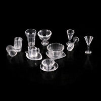 13pcs plate cup dish bowl tableware Dollhouse Miniature Toy Doll Accessori ANE