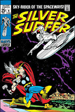 """Silver Surfer #4 20x30"""" Versus Thor Classic Cover Print NOT A POSTER"""
