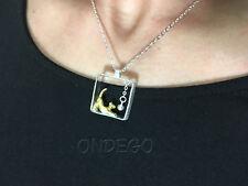 Sterling Echt Silber 925 Damen Schmuck Kette Halskette Anhänger Katze Katzen