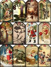 CHRISTMAS VINTAGE REPLICA (105-C) SCRAPBOOK CARD EMBELLISHMENTS HANG/GIFT TAGS