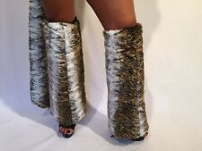 Connie's Soft Faux Fur Boot Toppers Leg Warmers Rave wear