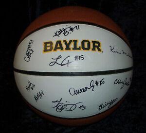 Autographed College Basketballs Scott Drew Baylor Bears Signed Full Size Logo Basketball COA Make An Offer PROOF