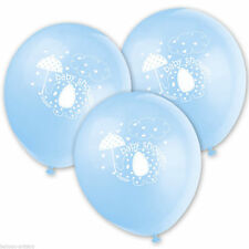 8 x Blue Umbrellaphants Latex Balloons Party Supplies Decoration Boy Baby Shower