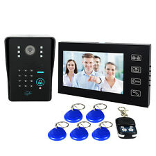 "7"" LCD RFID Card Video Doorbell Phone Intercom keypad Door Entry Control System"