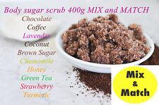Homemade Body Scrub Gift 400g Mix & Match - Coffee Coconut Lavender Chocolate