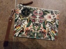 Archive by Portico Design Wristlet Pouch Faux Leather Botanical Staples New*