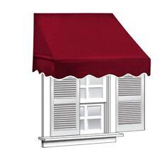 ALEKO Window Awning Door Canopy Decorator 8x2ft Sun Rain Shade Shelter Burgundy
