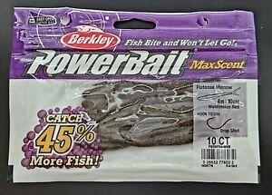 "Berkley Powerbait Maxscent Worm 4"" Flat nose Minnow Bait 10-CT SAME-DAY SHIP"