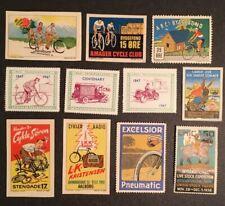 Rare Europe Poster Stamp European Transportation Bicycle Advertising Cinderellas