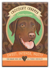 Retro Dogs Refrigerator Magnets: CHOCOLATE LAB | Vintage Advertising Art