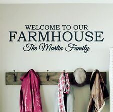 Personalized Family Welcome FARMHOUSE Vinyl Wall Decal Sign Fixer Upper Decor