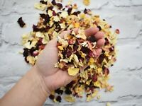 Natural Dried Rose Petal Biodegradable Wedding Confetti Mixed 1 Litre