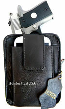 BROWN LEATHER CCW CONCEALMENT GUN PISTOL HOLSTER PACK for RUGER LCP 380 & II
