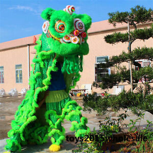 New Lion Mascot Costume Dance Wool Southern Lion Chinese Folk Art For Two Adults