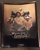 1999 Wyoming Cowboys Spiral Football Media Guide