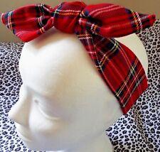 Headwrap Pelo Vincha Cabeza Banda Envoltura Rojo Royal Stewart tartán Damas Niñas