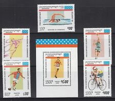 Cambodia 1995 Summer Olympics Sc 1420-1425 complete mint never hinged