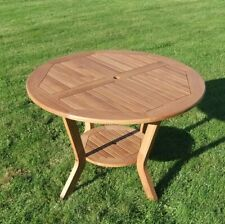 runder Holz-Gartentisch ROMA Tisch rund 100 cm Holztisch für Garten Terrasse