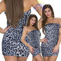 Vestitino DONNA Leopardato SEXY Mini DRESS Abito SEXY Ragazze HOT Corto 21014