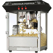 Pop Corn Machine Popper Maker Vintage Theater Fun Time Black Commercial Party Us