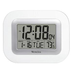 Westclox Desk, Mantel/Wall Clock Alarm Clock (White) 55006S