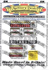 HOWARD GEM ROTAVATOR DECALS (LATER)