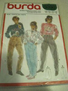 BURDA 5330 MENS' or LADIES' PANTS Sewing Pattern Sz 10-16 SEALED Vintage