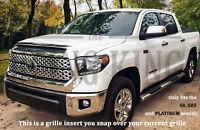 Fits 2018-2020 Toyota Tundra Chrome Grille Insert Grill Overlay Trim SR SR5