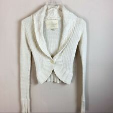 Hollister Womens Juniors Sweater Cardigan Ivory Long Sleeve Size XS