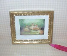 "Miniature Jacqueline's ""Royal Ballet"" Print w/Gold Frame: DOLLHOUSE 1/12"