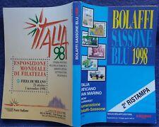 BOLAFFI SASSONE BLU 1998,francobolli Italia Vaticano San Marino,catalogo #f