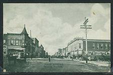 KS Parsons LITHOGRAPH 1907 MAIN STREET White Furniture Store WAGONS No. 17702