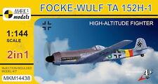 Mark I Models 1/144 Focke-Wulf Ta 152H-1 'gran altitud Fighter' # 14438