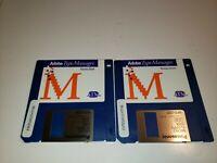 "Adobe Type Manager for Windows Software 2 Disk Set 3.5"" Floppy"