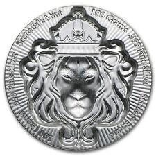 100 Gramm Silbermünze Scottsdale Mint Silver Stacker Löwe Lion 3D Selten