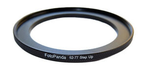 FotoPanda 67mm to 77mm 67 77 Knurled Metal Step Up Filter Ring Stepping Adapter